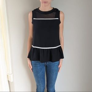 Cute black top with white detail